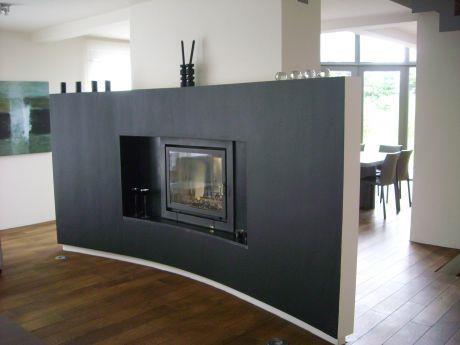 cheminee centrale noire