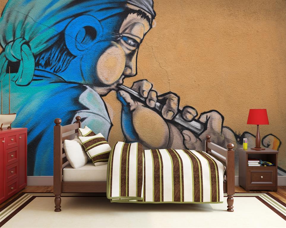 Fresque murale moderne for Fresque murale cuisine