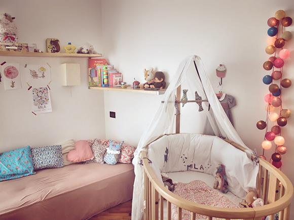 Chambre de b b fille r alis e par little m marion arnoud for Photo de chambre de bebe fille
