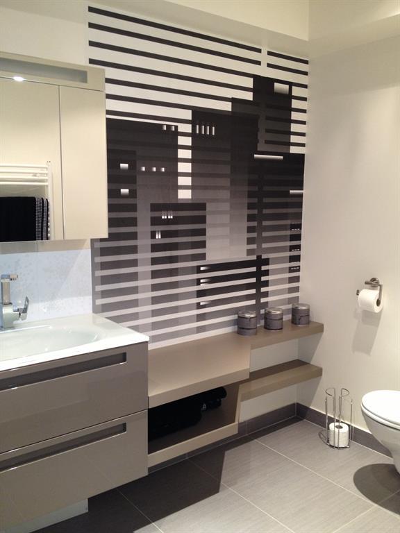 salle de bain style urbain masculin palette de couleurs masculines gris taupe chocolat - Salle De Bain Taupe