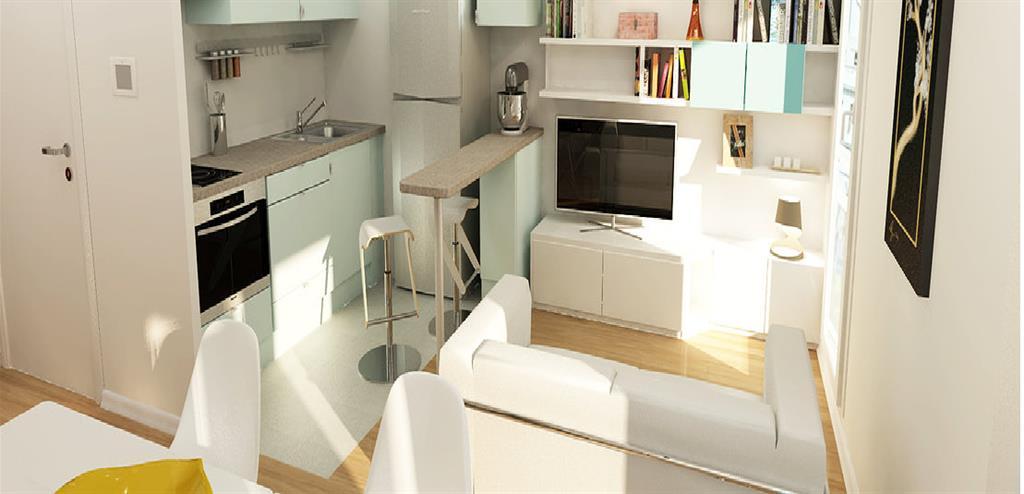 Separer Cuisine Salon Studio – Table De Lit A Roulettes