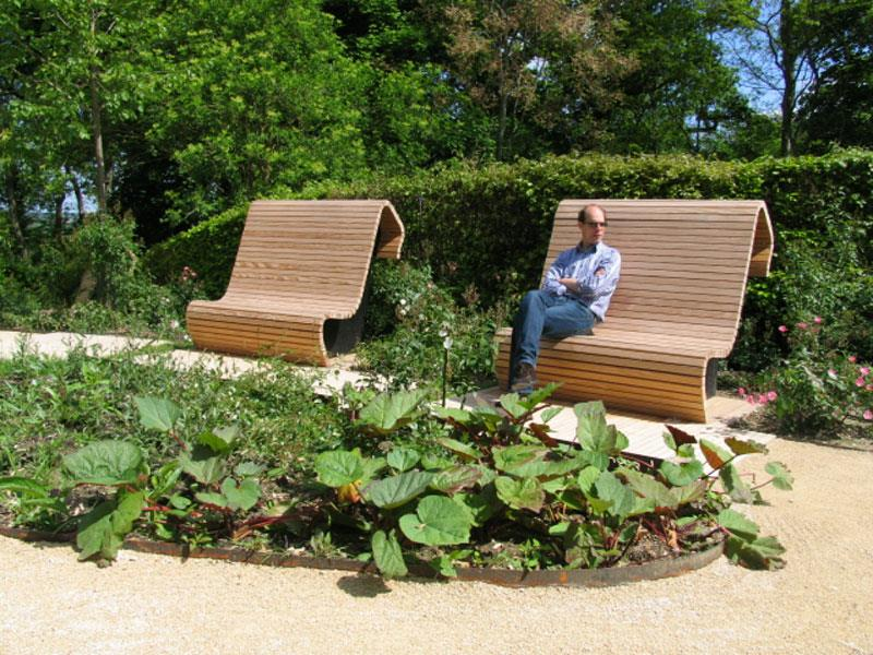 Banc en bois design thomas van eeckhout photo n 71 for Photo jardin moderne design