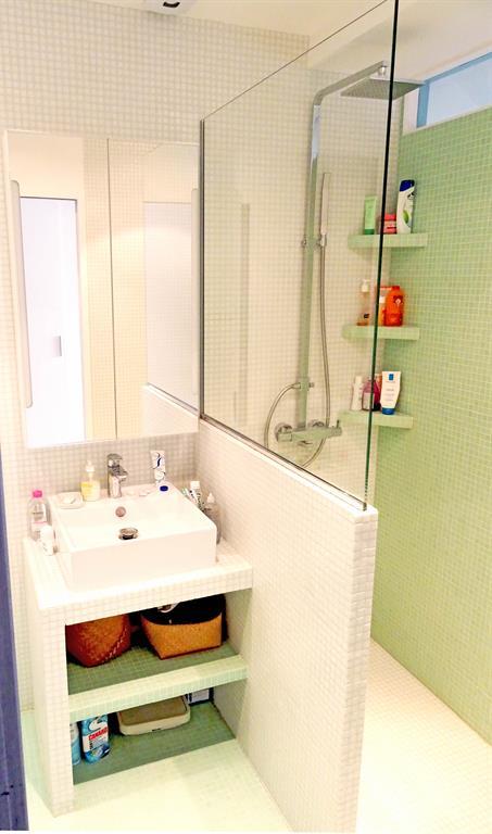 optimisation dune toute petite salle de bain parisienne - Salle De Bain Petite Et Moderne