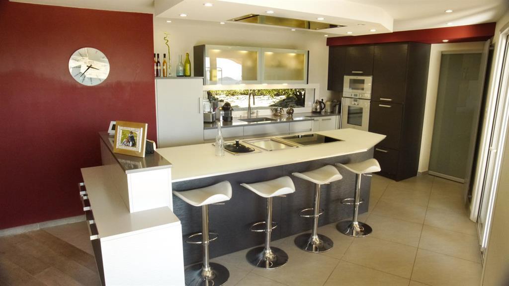 Plan De Cuisine Avec Ilot. Grande Maison Style Moderne Rustique 3 ...