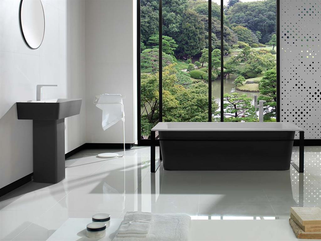 Baignoire et lavabo en krion® porcelanosa photo n°94