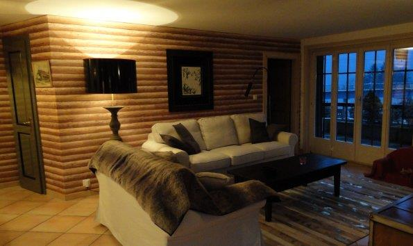 Petite Étagère Salle De Bain Ikea : Salon avec lambris au mur Vie Interieur photo n°97