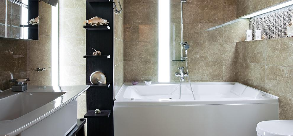 Petite salle de bain lumineuse olivier donati photo n 07 - Conseil carrelage petite salle de bain ...