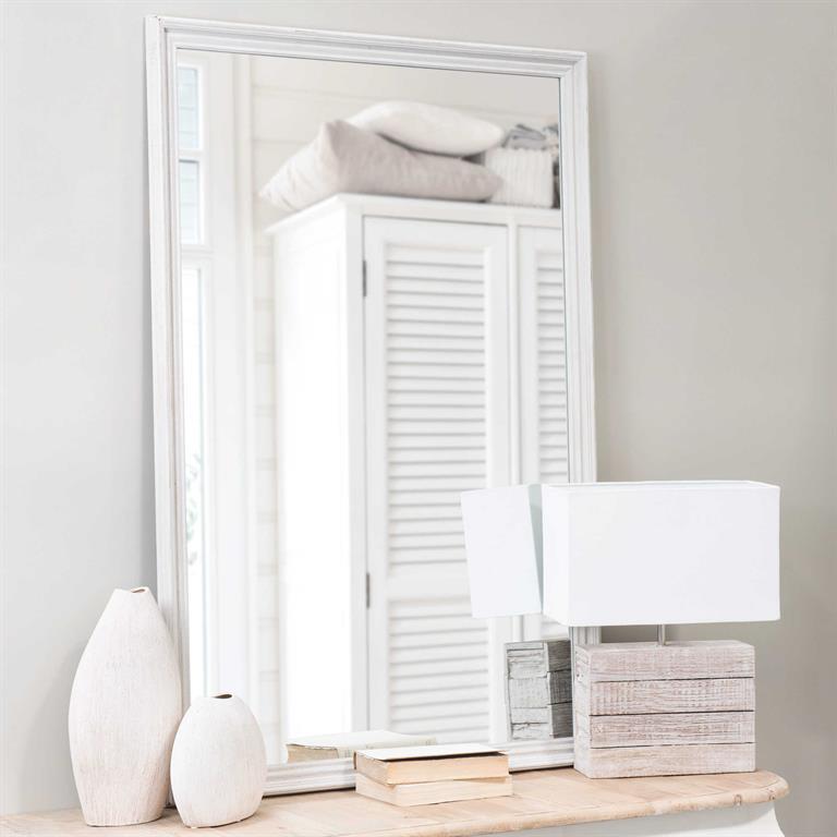Miroir Bois Clair : entr?e ou le couloir > Miroir en bois gris clair H 120 cm CL?A