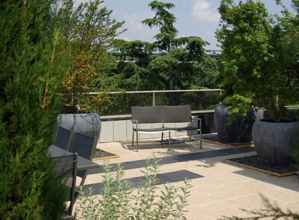 Jardin Terrasse Design : 194201 jardin design et contemporain jardin terrasse avec allee jpg