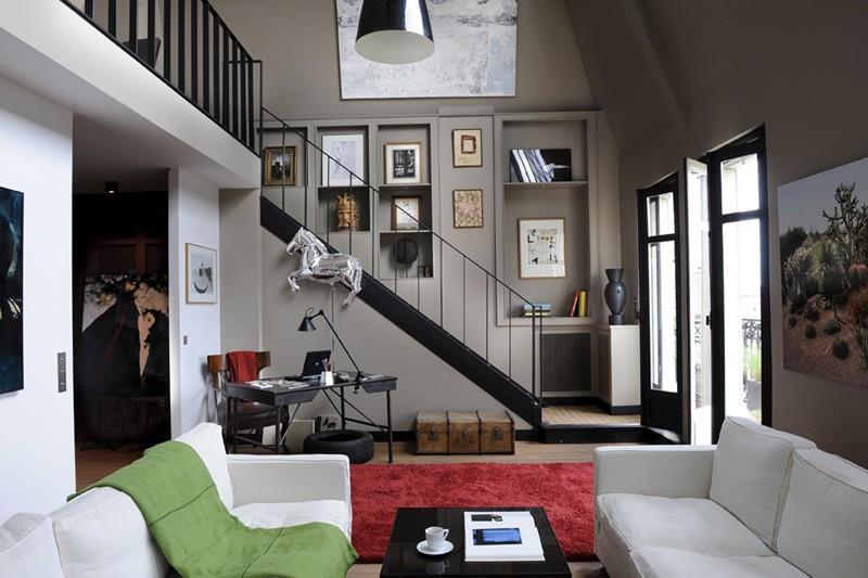 Escalier de mezzanine par sylvie rochet - Deco salon avec escalier ...