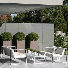 Salon d 39 ext rieur avec bac plantes hauts j 39 ai descendu dans votre j - Salon exterieur design ...