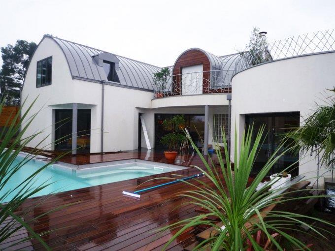 Terrasse bois sur toiture zinc Terrasse En Bois