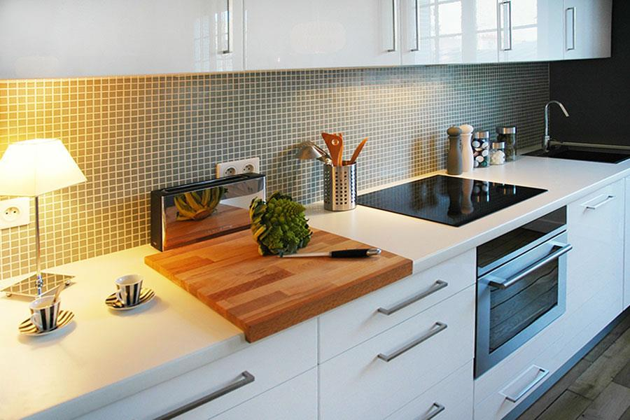 Mosaique Credence Cuisine. Mosaique Aluminium Carrelage Aluminium