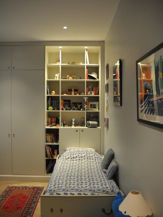 Biblioth que et placard en t te de lit chambre enfant - Bibliotheque chambre enfant ...