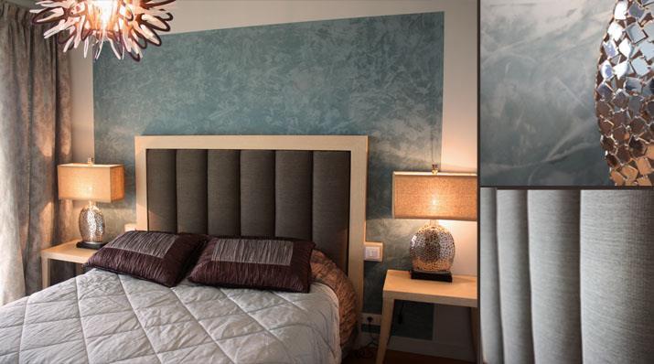 Modele Cuisine Gris Anthracite : Image Chambre très élégante couleur bleu marron et gris Valérie