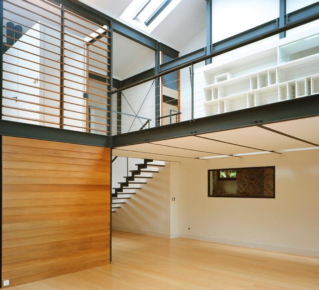 mezzanine en structure acier noir jean michel landecy. Black Bedroom Furniture Sets. Home Design Ideas