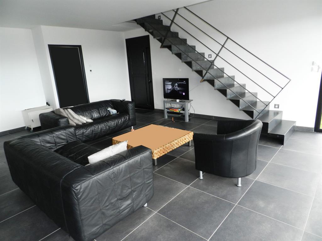 Awesome salon moderne encuir contemporary amazing house for Salon cuir noir