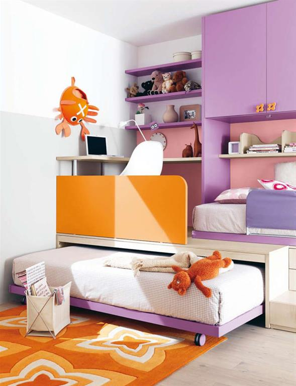 Chambre de fille moderne chambre ado fille moderne violet for Poster xxl chambre fille
