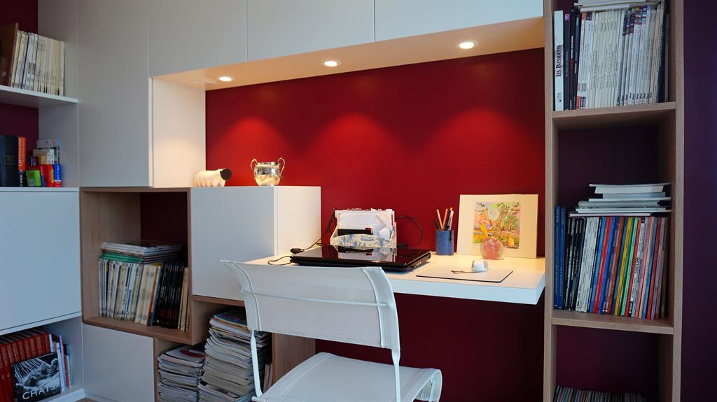bureau avec biblioth que sur mesure am esquisse photo n 76. Black Bedroom Furniture Sets. Home Design Ideas