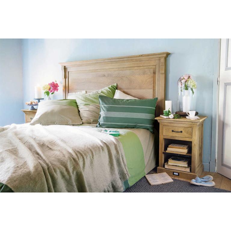 T te de lit en manguier massif l 140 cm naturaliste - Tete de lit en 140 ...