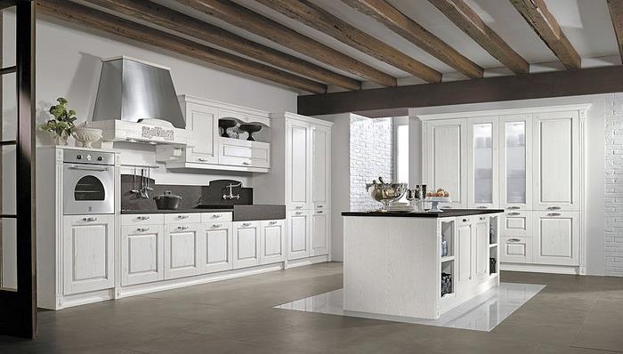 Cuisine Moderne Laque Blanc : 267303cuisineclassiquecuisineclassiqueblancheavecjpg