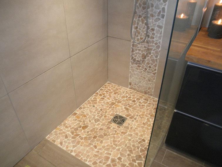 salle de bain douche a litalienne - Salle De Bain Moderne Beige