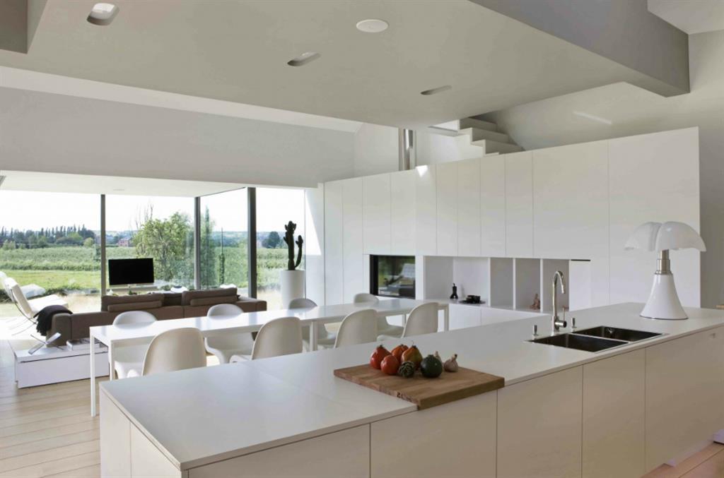 Decoration cuisine ouverte sur salle a manger - Cuisine blanche ouverte sur salon ...