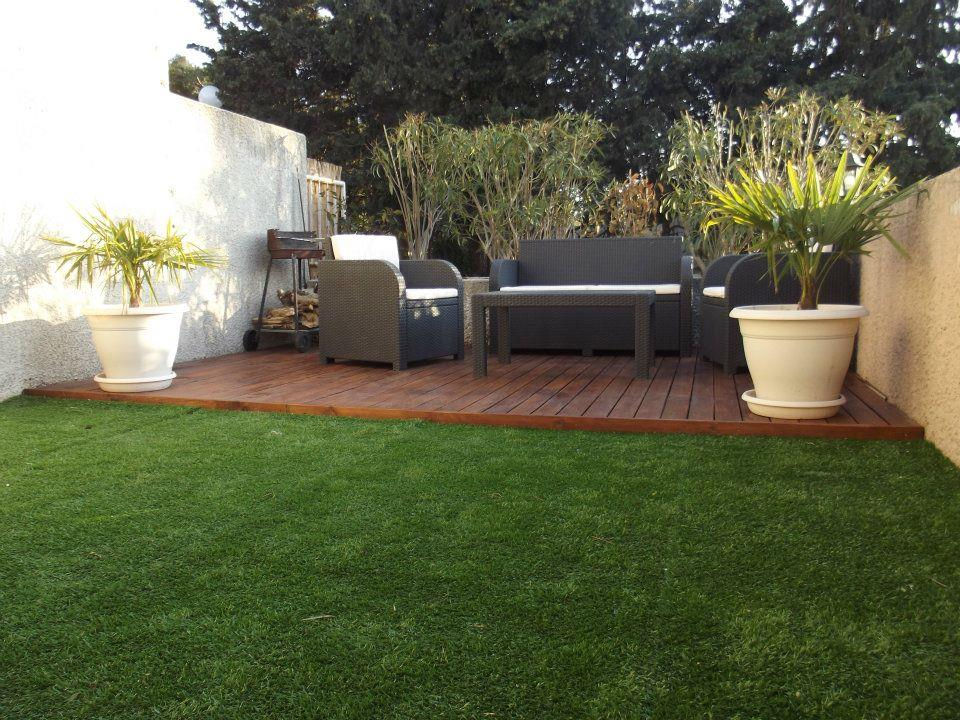 Terrasse en bois au karcher diverses id es for Photos jardins et terrasses