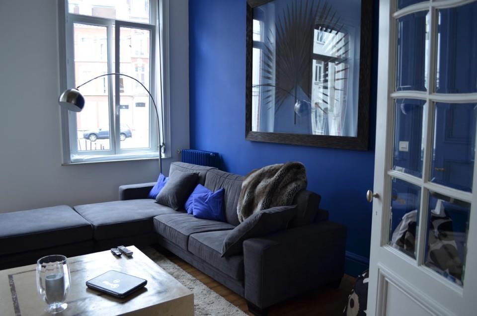 Salon Bleu Marine Et Moutarde