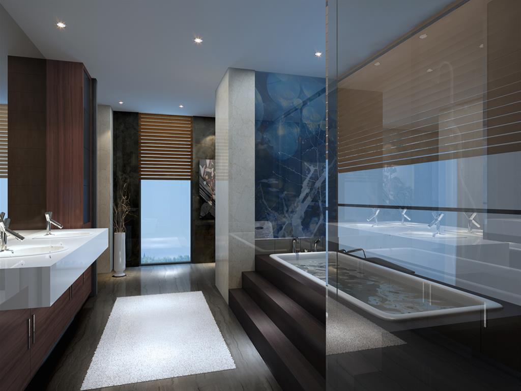 Salles de bain bleu idée décoration salles de bain bleu et ...