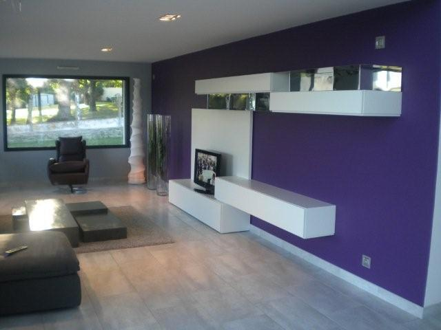 Salon violet et blanc ch interior design photo n 81 - Idee deco salon violet ...