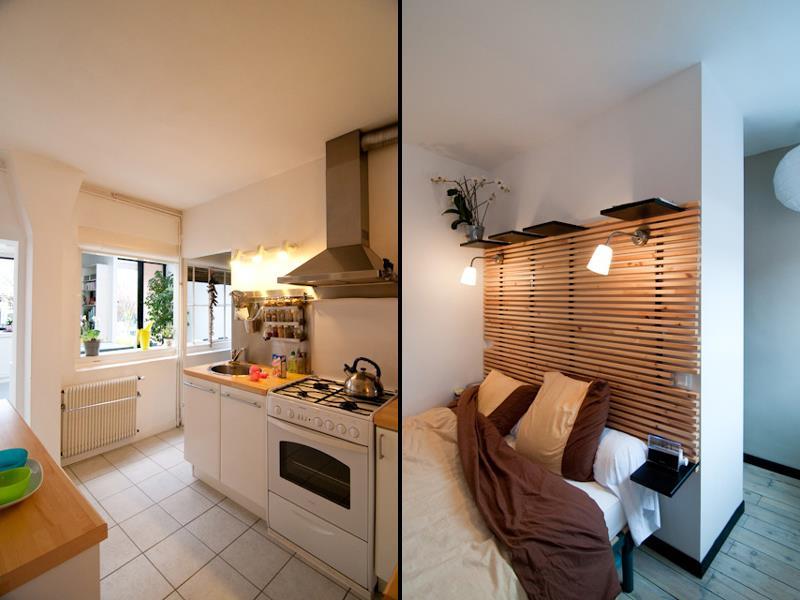 Cuisine moderne blanche et bois avec des - Petite cuisine moderne ...