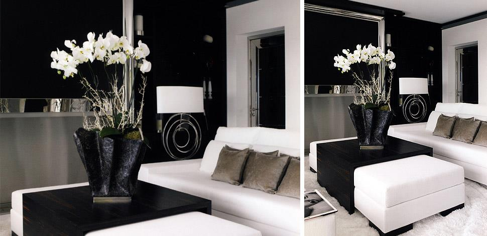 Grand salon chic noir et blanc vincent hestaux photo n 79 for Salon design noir et blanc