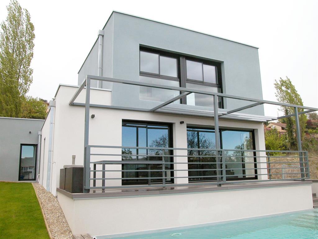 Couleur de facade de maison moderne maison moderne bois for Construire une maison sur un terrain agricole