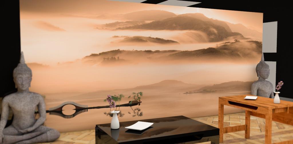 Chambre A Coucher Adulte Bois Blanc : Salon Ambiance Moderne  Ambiance bouddhiste Danel Chamon photo n°85