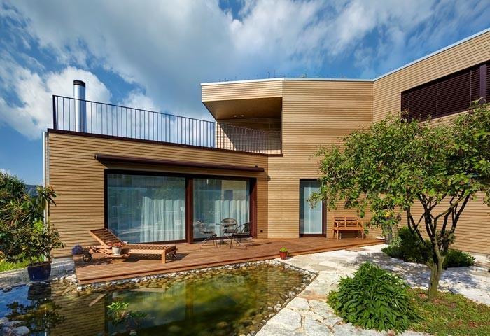 Jardin avec bassin et terrasse bois renggli photo n 56 - Terrasse bois avec bassin ...