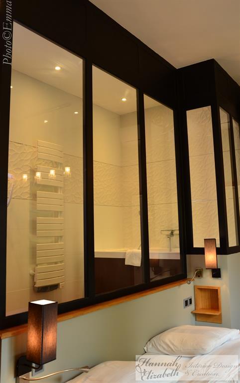 chambre moderne avec salle de bain chambre et salle de bain moderne traditionnel domozoom - Chambre Avec Salle De Bain Verriere