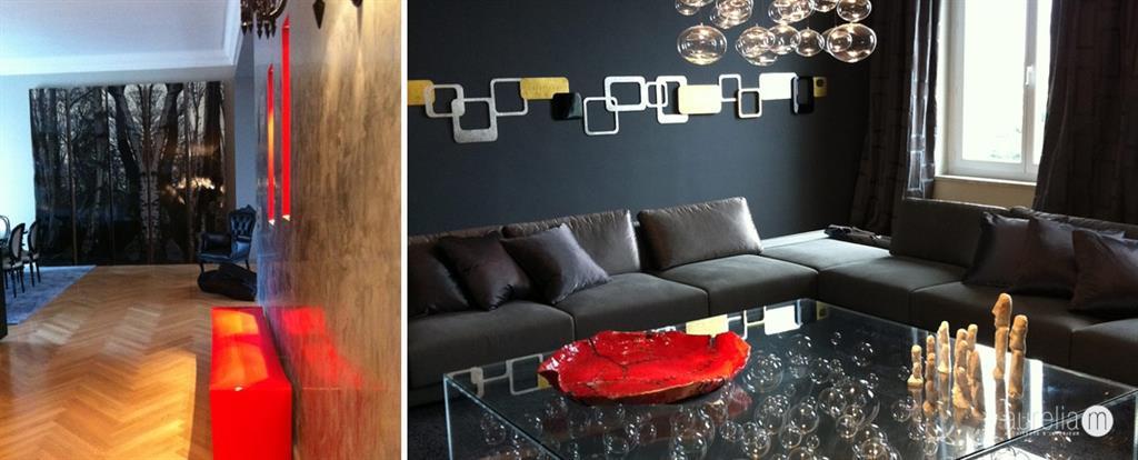 salon chic avec une table basse en bulles de verre murano - Salon Chic Et Moderne