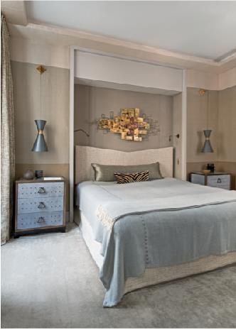 chambre ton clair beige et bleu gris jean louis d niot. Black Bedroom Furniture Sets. Home Design Ideas