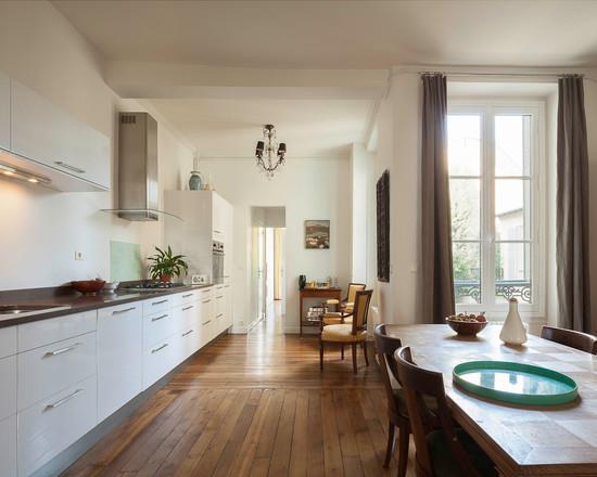 Architecture petite maison moderne aixen provence 3133 for Cuisine en longueur ouverte