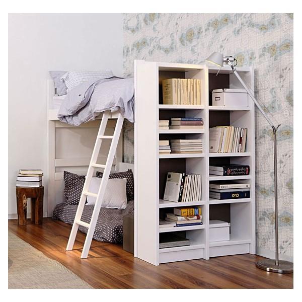 Bien pratique ce lit mezzanine en bois blanc qui regorge de rangements - Mezzanine bois blanc ...