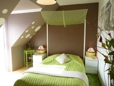 Awesome chambre vert pomme et marron ideas design trends 2017