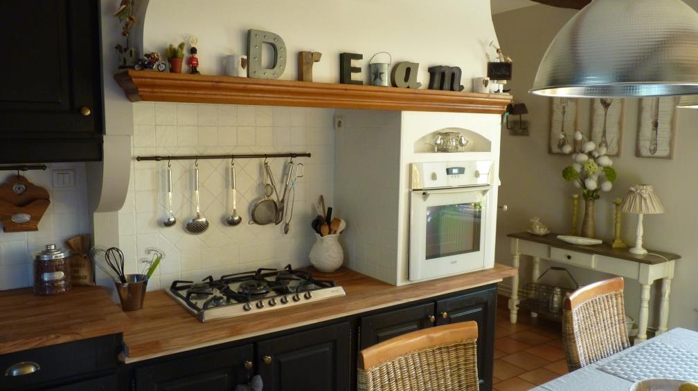 cuisine bois relook e. Black Bedroom Furniture Sets. Home Design Ideas