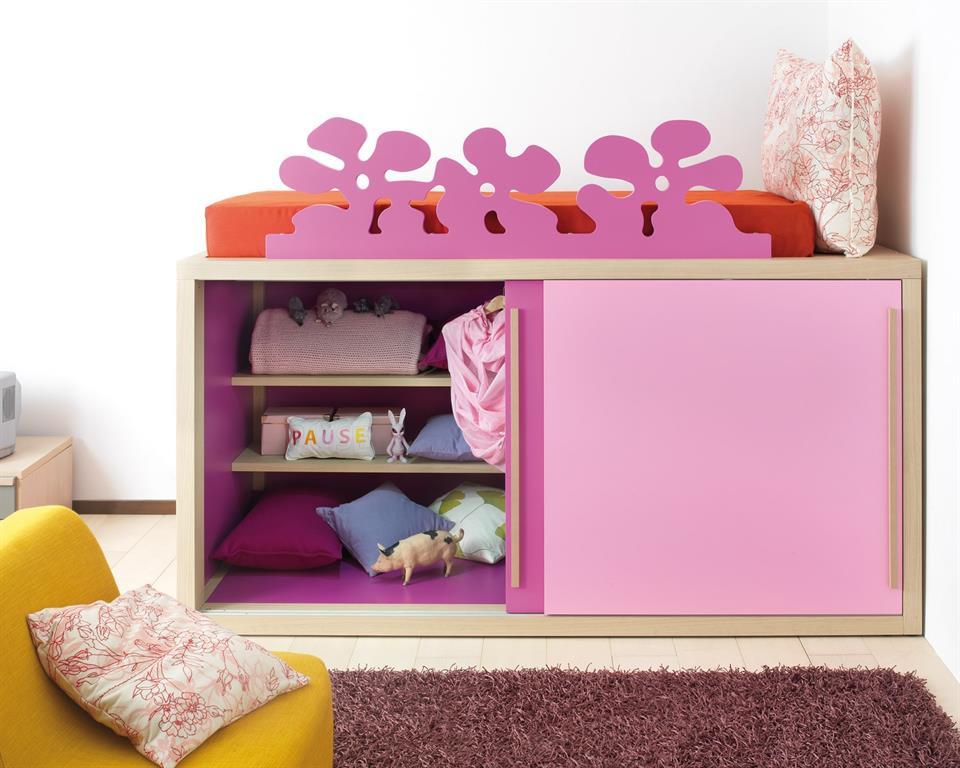 un lit mezzanine avec placard intgr pour mieux ranger - Mezzanine Chambre Hauteur