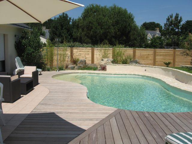 Plage et abords de piscine par agn s vermod for Piscine teck semi enterree