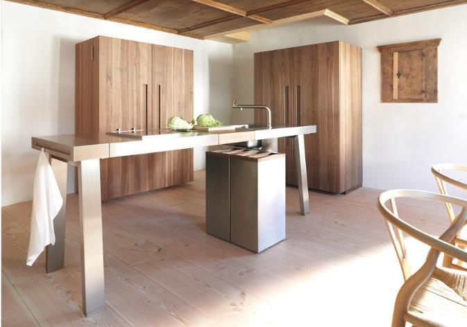 Cuisine en bois et inox bulthaup photo n 97 domozoom for Cuisine design inox