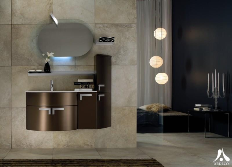 decoration salle de bain moderne marron images - Salle De Bain Beige Et Prune