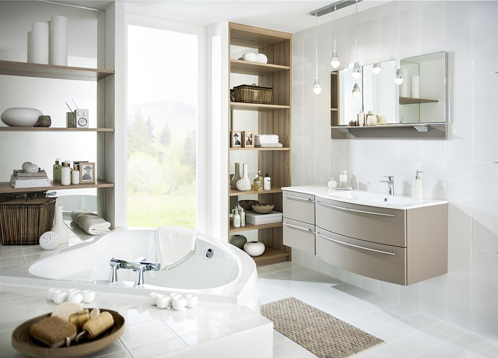simple salle de bain blanche et marron salle de bain moderne grise et blanche noir design with salle de bain blanche et marron - Meuble Salle De Bain Marron