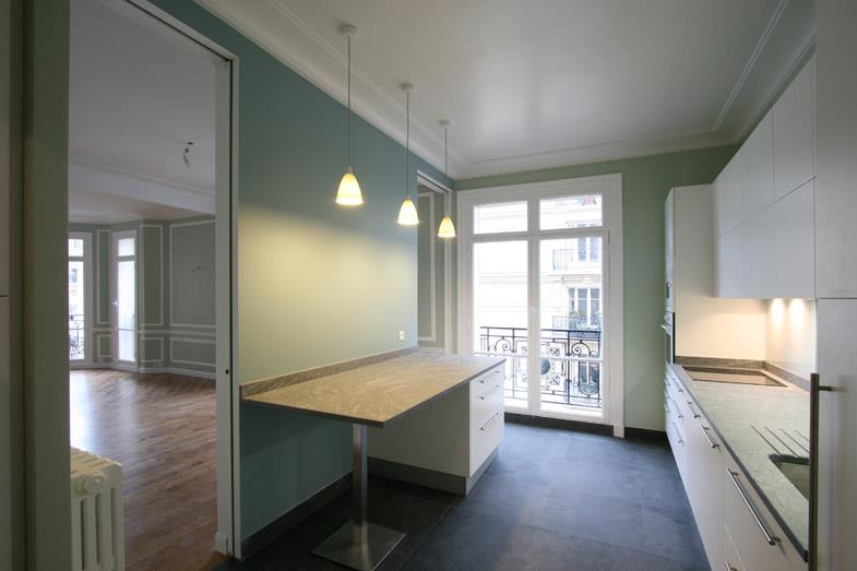 image grande cuisine vert deau alcmea architectes - Cuisine Vert Eau
