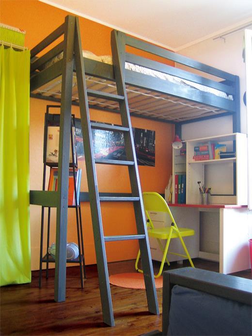 sylvie dupuis optimisation de lespace dans cette chambre mixte avec un lit en hauteur - Mezzanine Chambre Hauteur